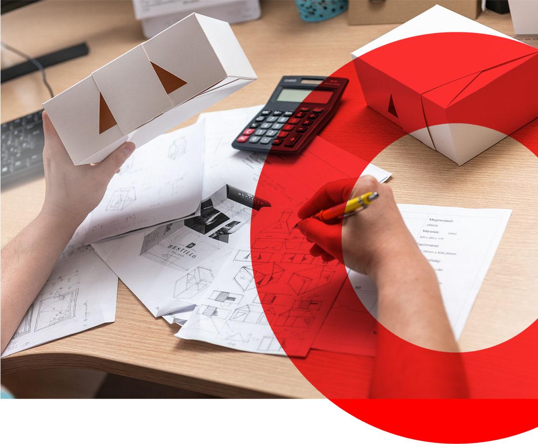 Csomagolást készítünk egészen a tervezéstől a kivitelezésig
