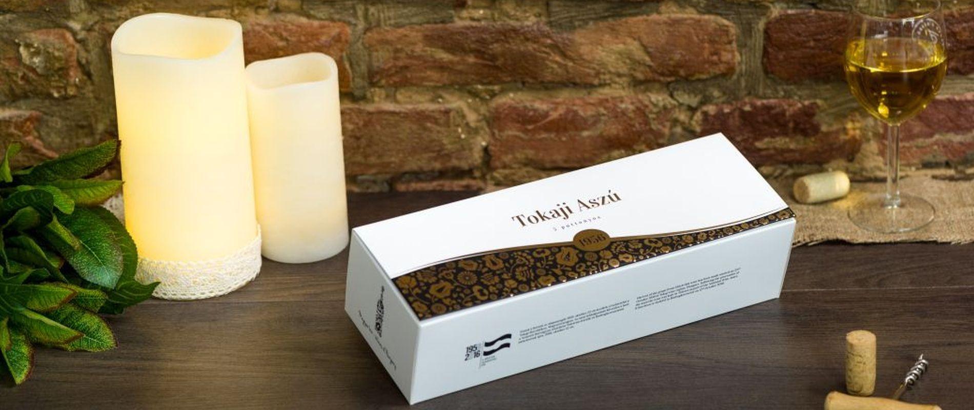 Gift box for the Tokaji Aszú vintage of 1956